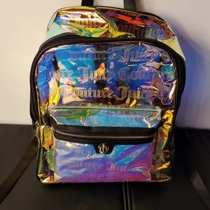 Holographic Juicy Couture backpack